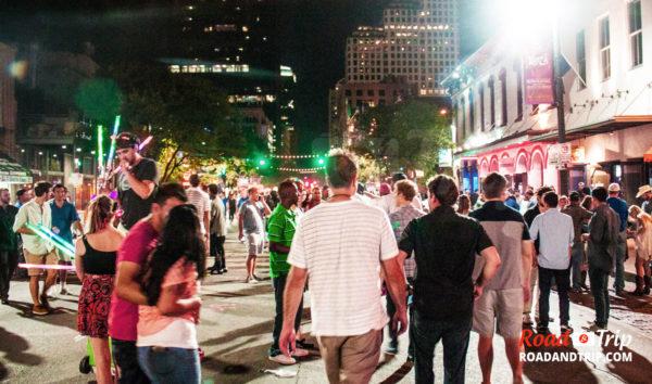 Ambiance festive à Austin