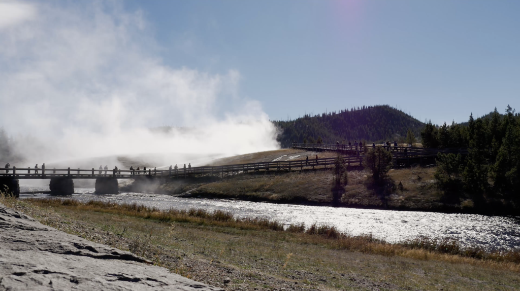 Attraction touristique au Parc National de Yellowstone