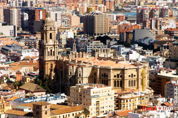 Cathédrale de Málaga vu de Gibralfaro