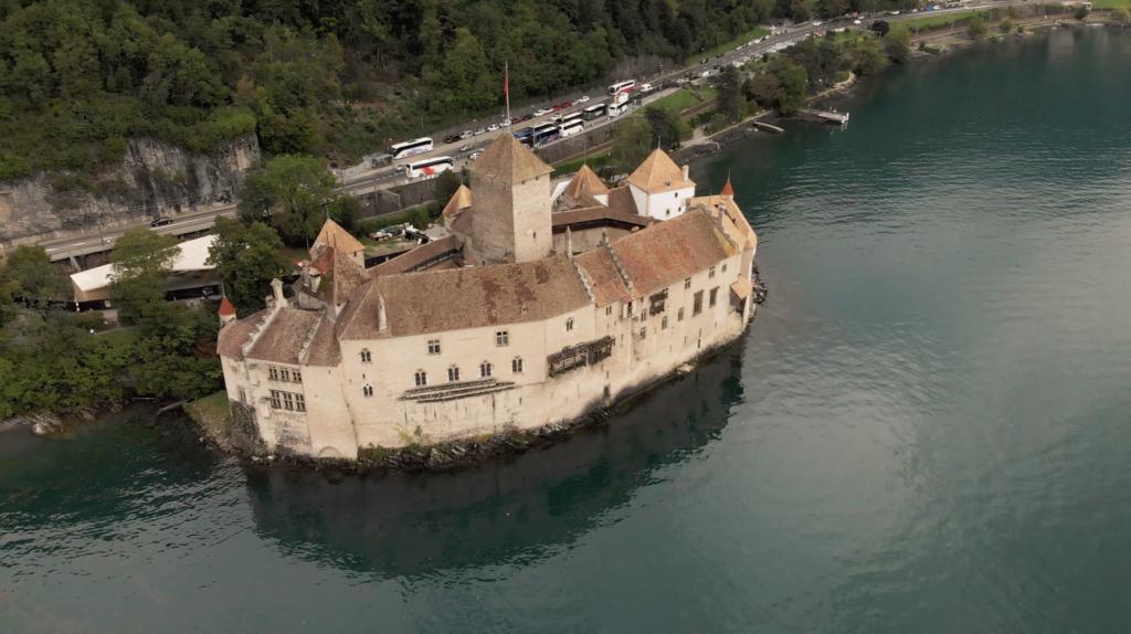 Château de Chillon en vue aérienne