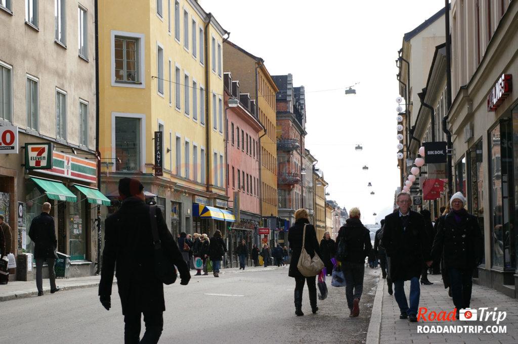 Dans les rues de Stockholm