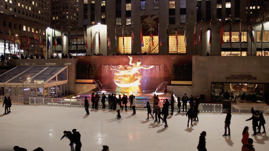 Faire du patin à glace à Manhattan