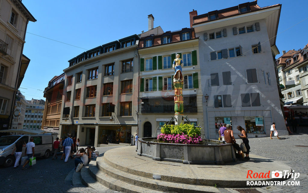Fontaine de la Justice à Lausanne