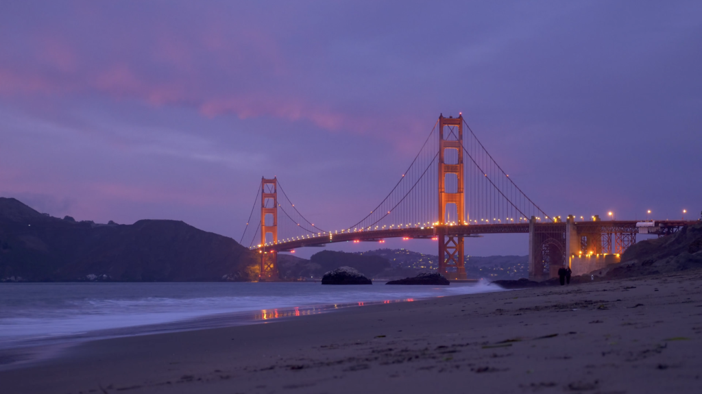 Golden Gate Bridge de nuit