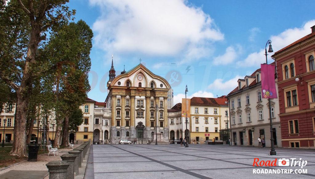 La Place du Congrès à Ljubljana
