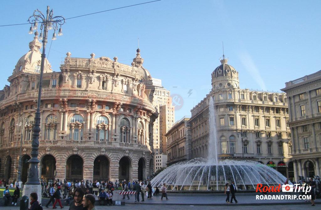 La fontaine de la Piazza de Ferrari