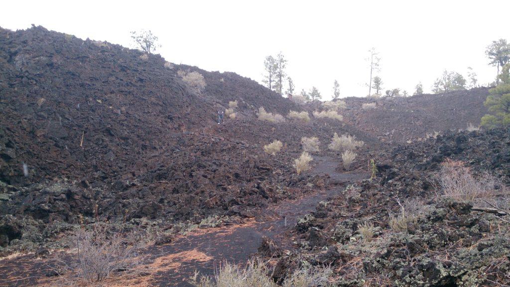 La lave de Sunset Crater