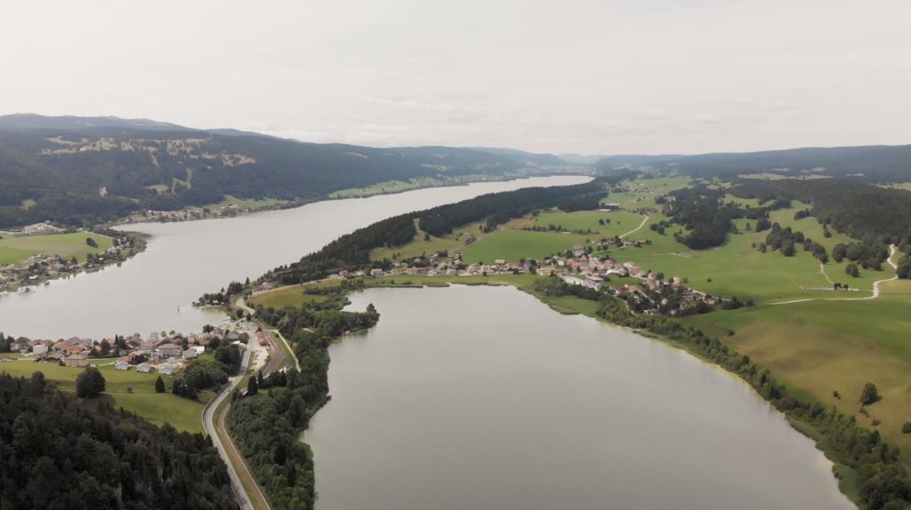 Lac Brenet et Lac de Joux vue aérienne