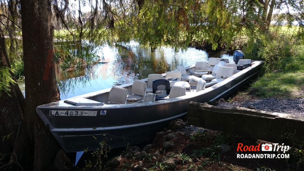 Le bateau du Swamp Tour
