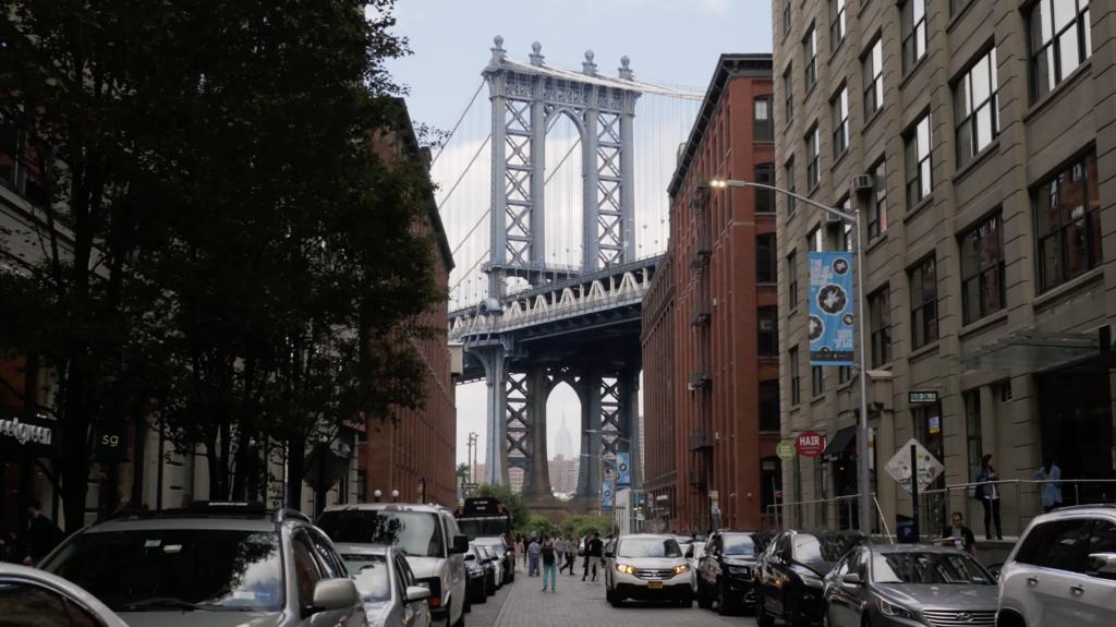Le pont de Brooklyn vu depuis Brooklyn