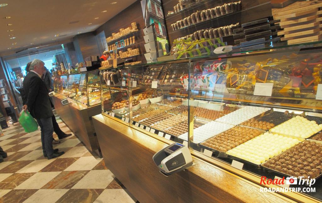 Les chocolats suisses à Zurich