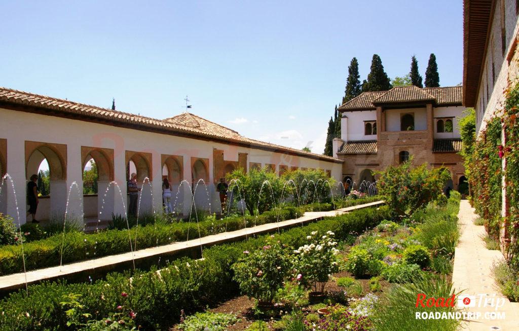 Les jardins du Generalife sous un autre angle