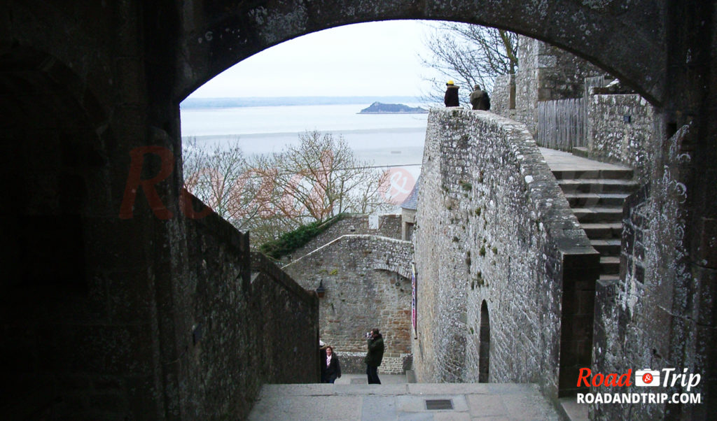 Les marches du Mont-Saint-Michel
