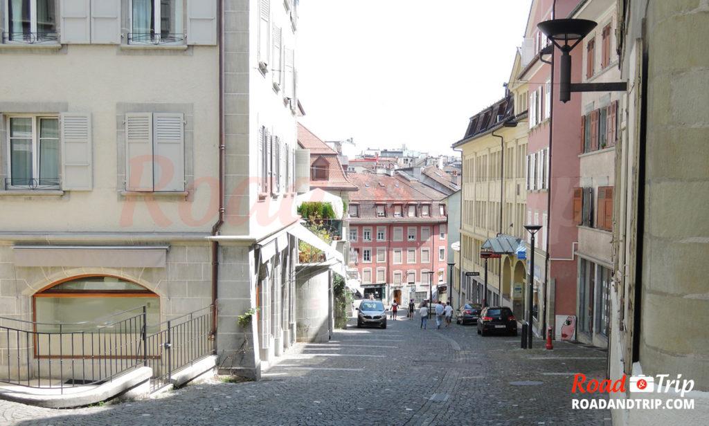 Les rues en pente à Lausanne