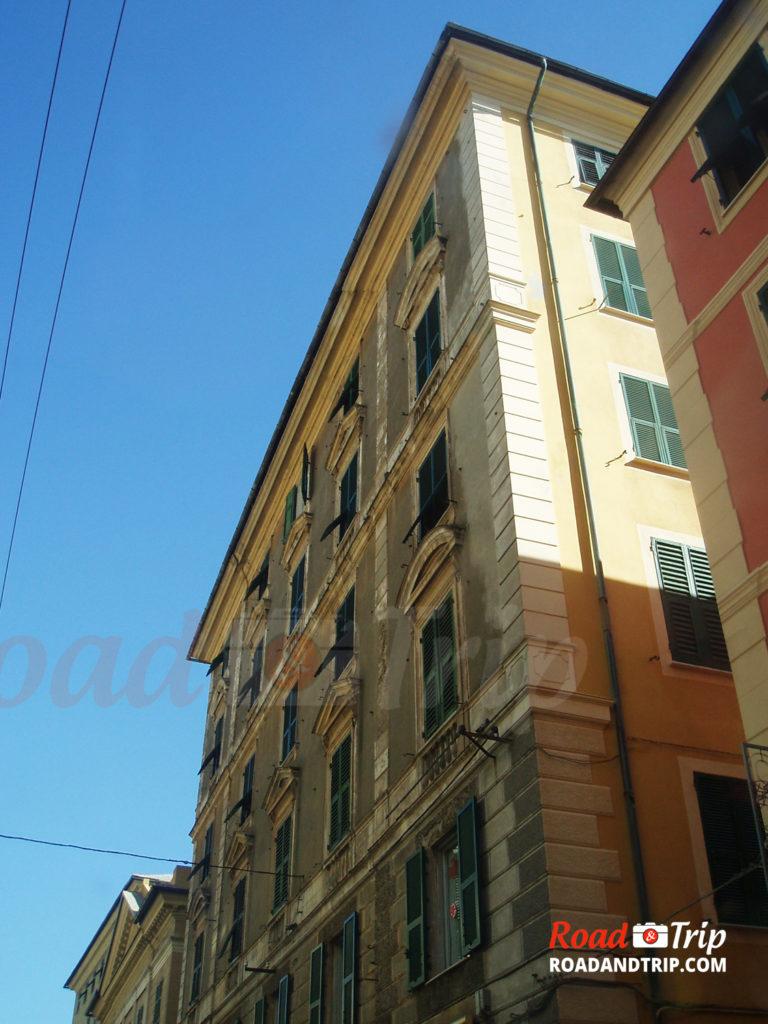 Les vieilles architectures à Gênes