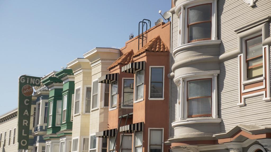 Maisons typiques à San Francisco