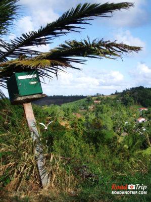 Paysage de Martinique dans les terres