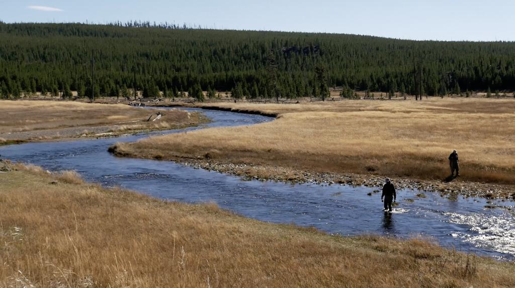 Pecheurs au Parc National de Yellowstone