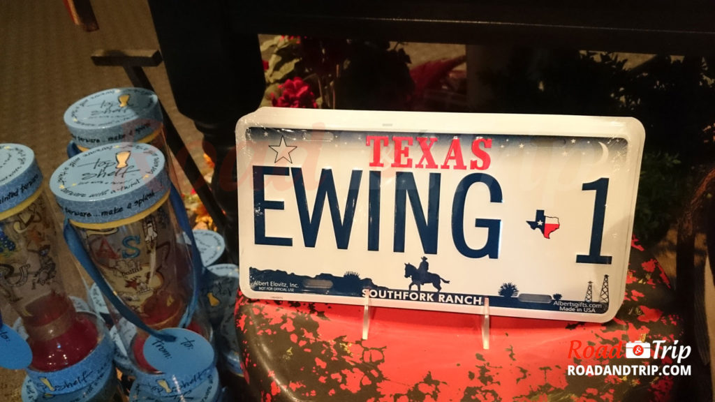 Plaque d'immatriculation à l'effigie des Ewing