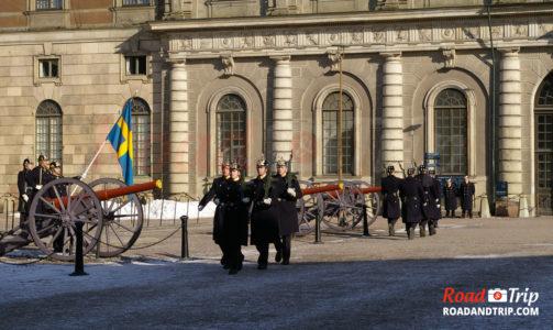 Relève de la Garde Royale à Stockholm