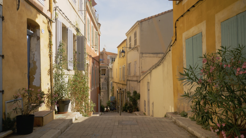 Ruelle dans le quartier du Panier Marseille