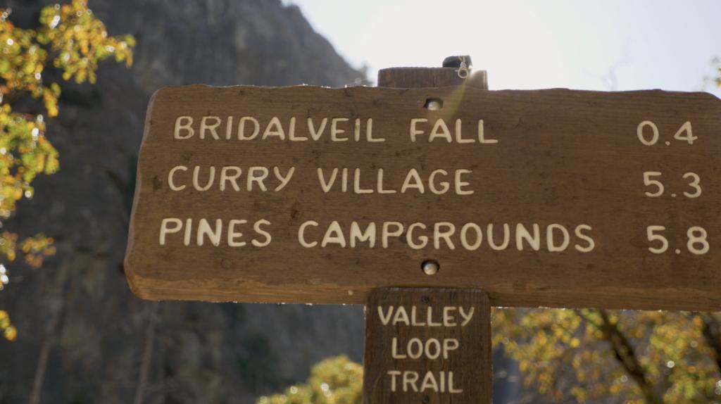 Sentier vers Bridalveil Fall