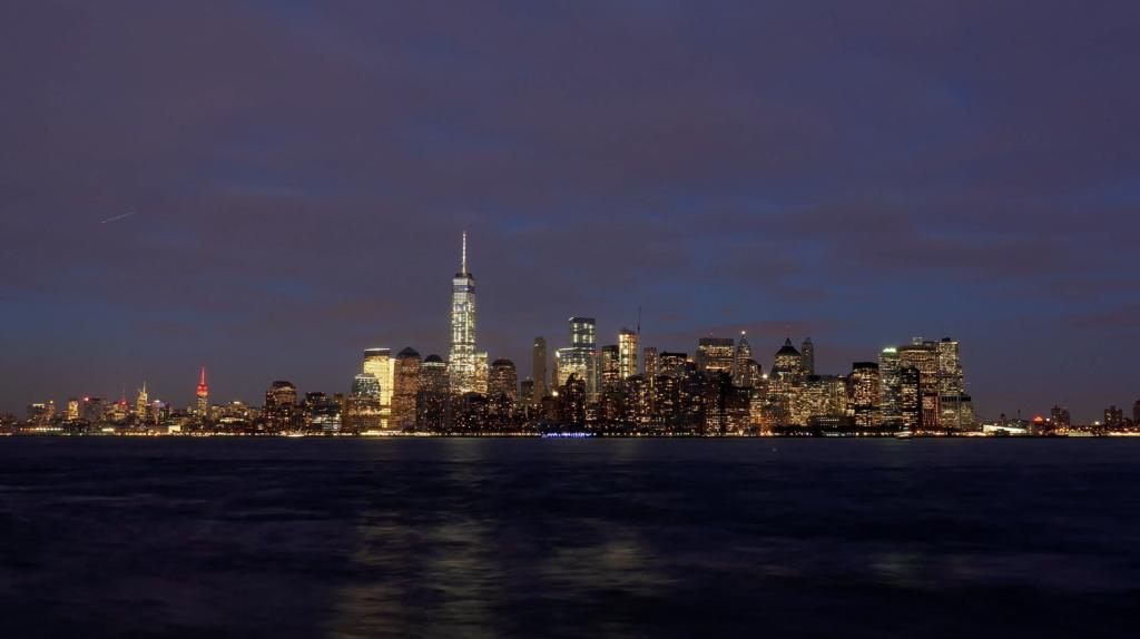 Skyline de Manhattan de nuit