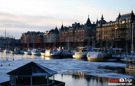 Soleil couchant à Stockholm