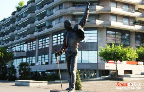Statue de Freddie Mercury à Montreux