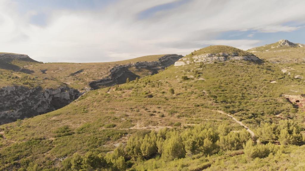 Tete Ronde dans les collines de Pagnol