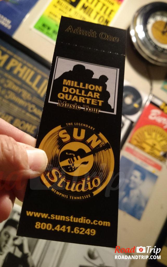 Ticket du Sun Studio