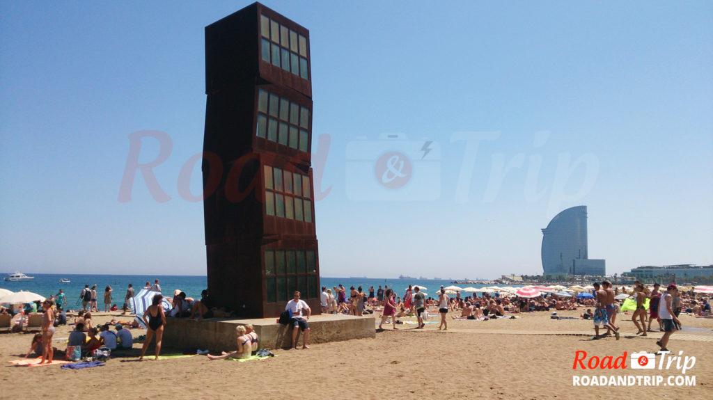 Toujours la plage de Barcelone