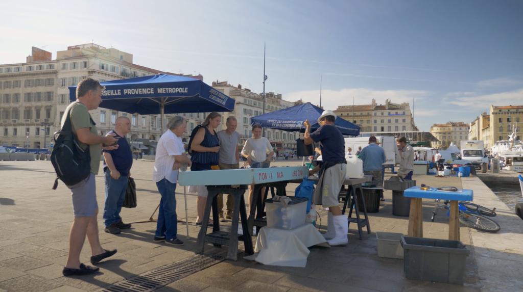 Vente de poissons sur le Vieux Port de Marseille