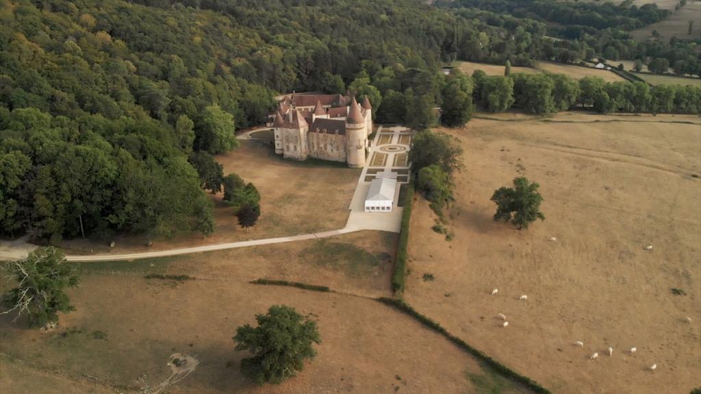 Vue aérienne Chateau de Bazoches