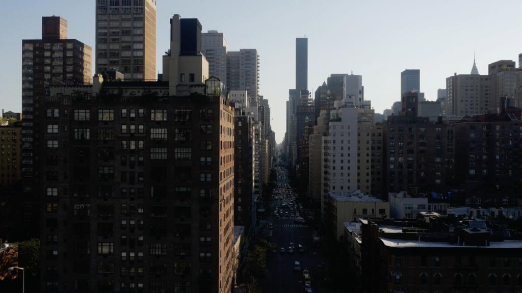 Vue aérienne des rues de New York City