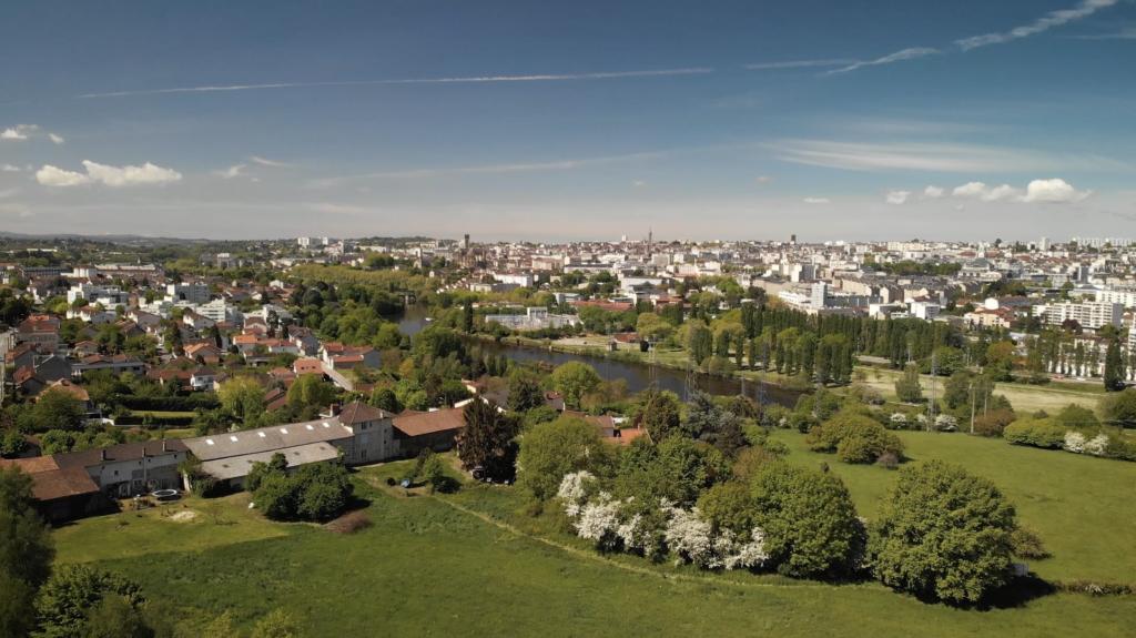 Vue aérienne sur Limoges