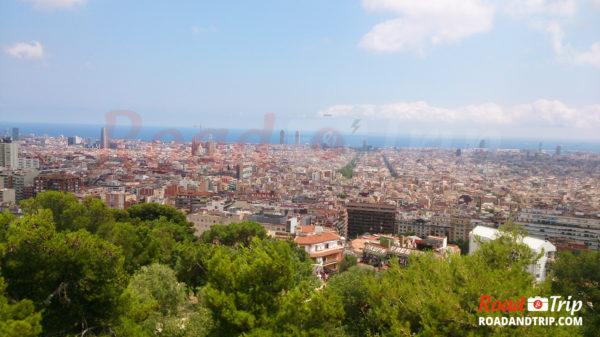 Vue de Barcelone depuis le parc Guell
