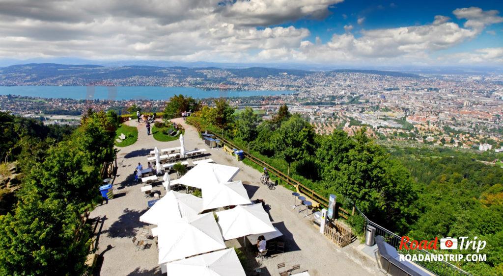 Vue de Zurich depuis l'Uetliberg