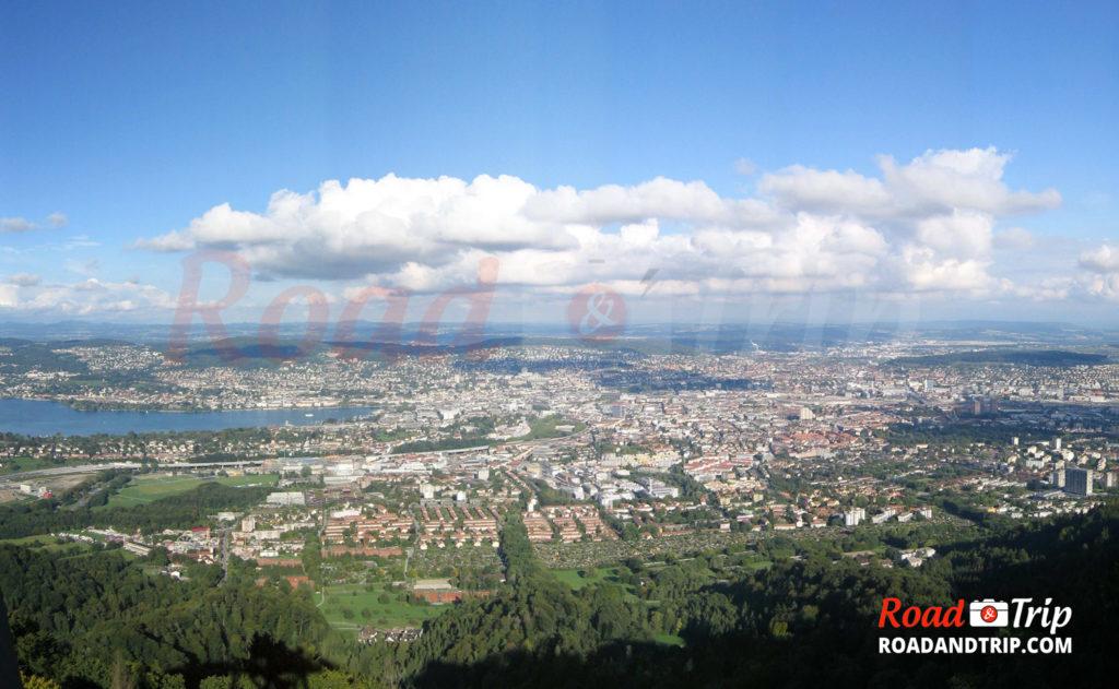 Vue panoramique depuis l'Uetliberg