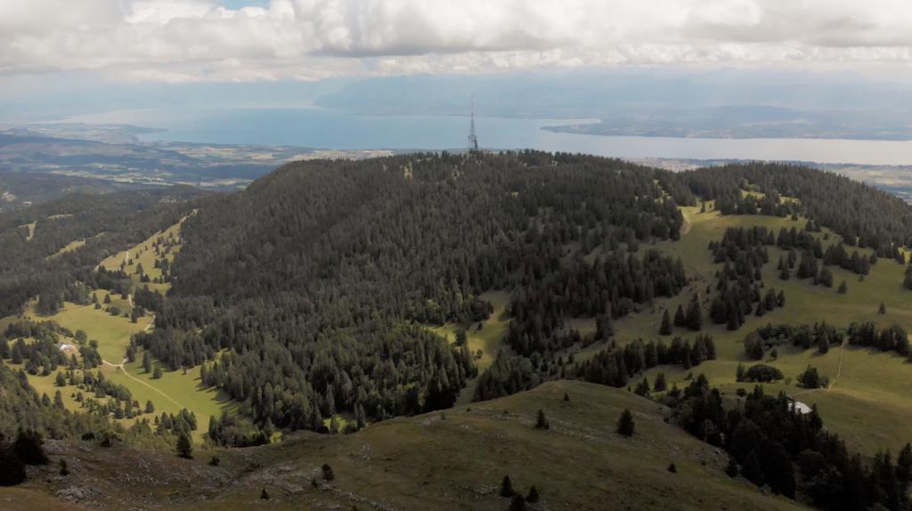 Vue panoramique depuis le Massif de la Dôle