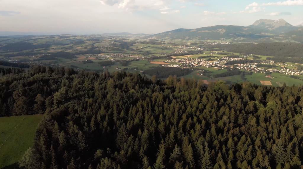 Vue panoramique du Mont Pèlerin