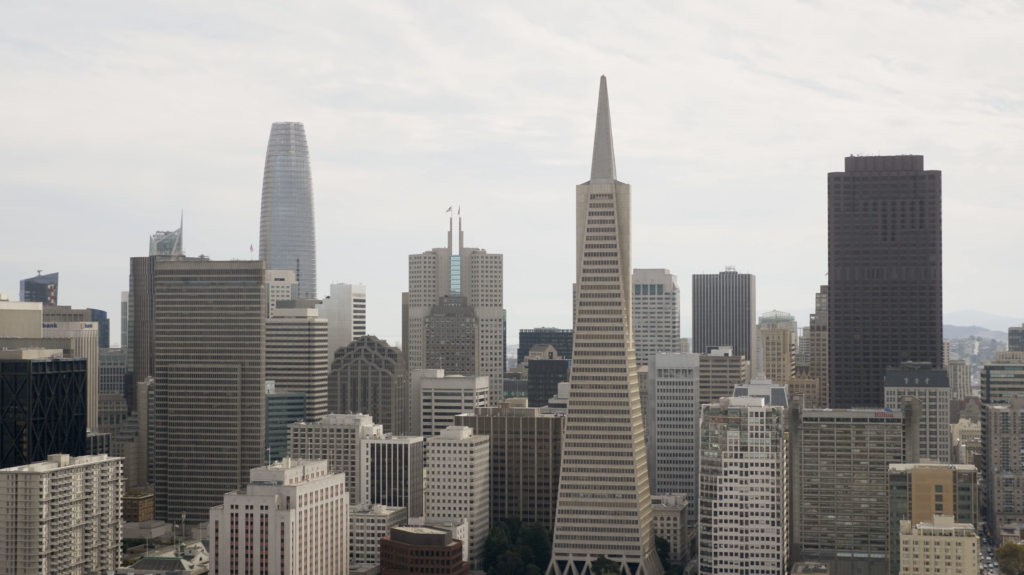 Vue sur Downtown San Francisco