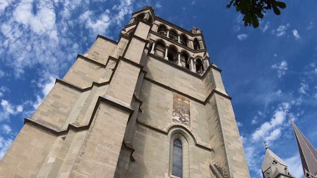 Vue sur la Cathédrale à Lausanne
