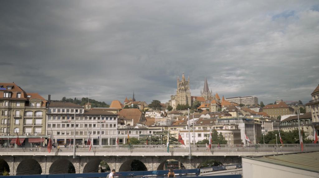 Vue sur la Cathédrale de Lausanne