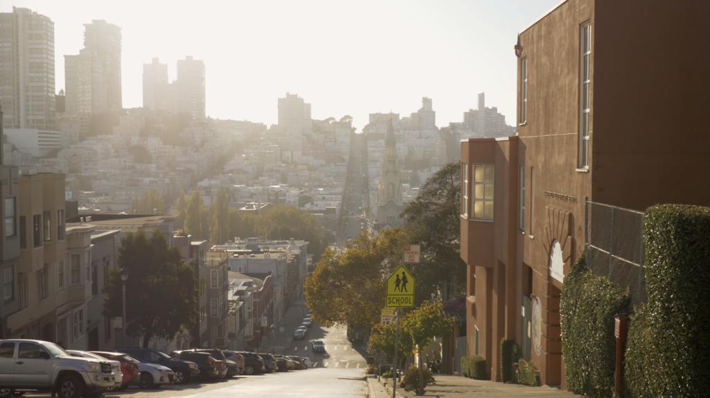Vue typique de San Francisco