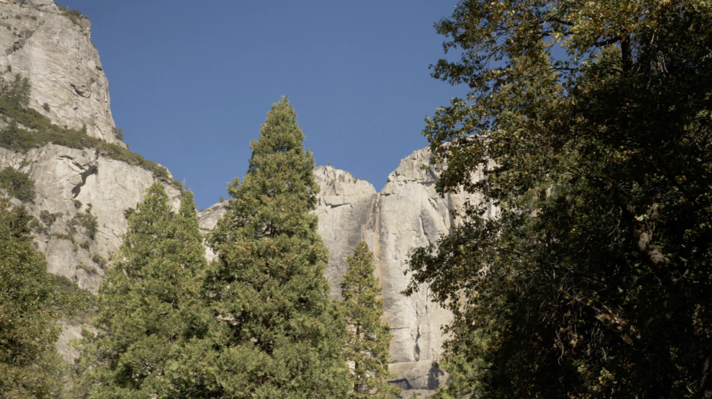 Yosemite Fall asséché en octobre